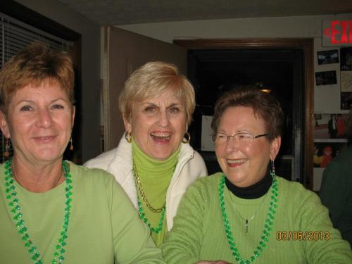 We HAD to wear green, and most of us did - including Samille, Polly and Marianne.