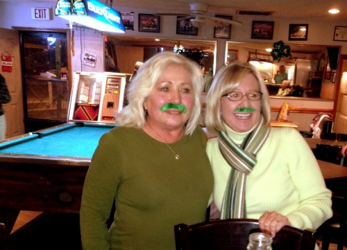 We wore them on our upper lips - like Deb and Jeri . . .